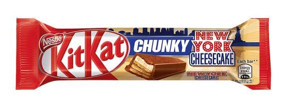 Latest New Product KitKat Chunky New York Cheesecake